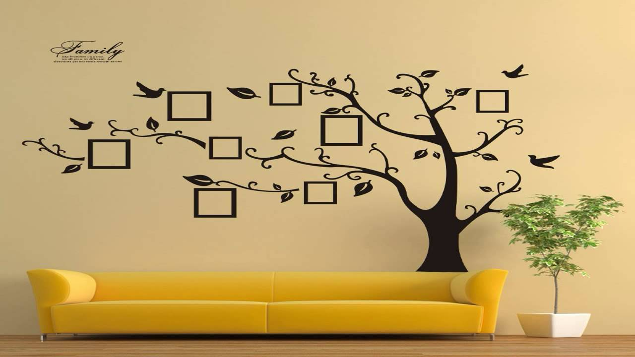 Timber Artbox Large Family Tree Photo Frames Wall Decal The Sweetest Highli    YouTube