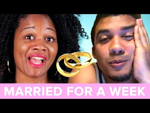 Single People Get Married For A Week  Daysha & Eli