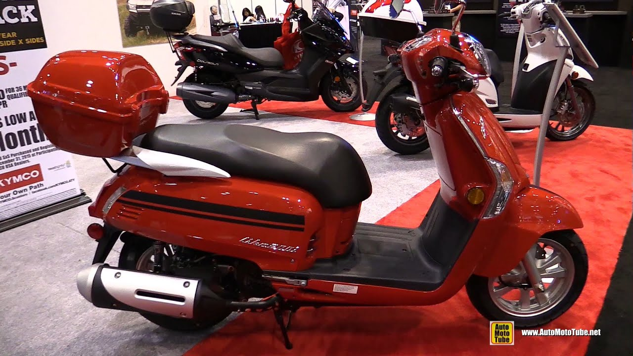 2016 kymco like 200i scooter walkaround 2015 aimexpo. Black Bedroom Furniture Sets. Home Design Ideas
