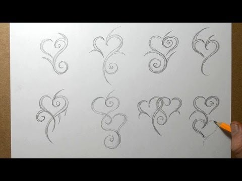 Tribal Heart Designs Sketching - Tattoo Ideas