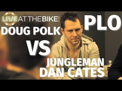Jungleman vs. Doug Polk In 3 Epic Pot Limit Omaha Hands ♠ Live at the Bike!