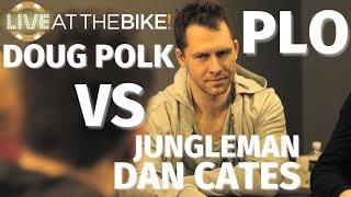 Jungleman vs. Doug Polk In 3 Epic Pot Limit Omaha Hands ♠ Live at the Bike!