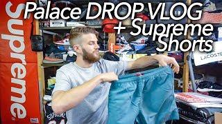 Palace Skateboards DROP VLOG + Supreme Nylon Water Shorts slate green