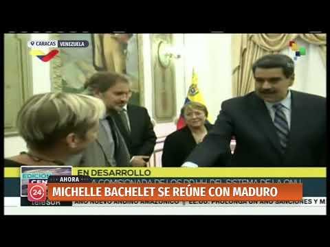 Michelle Bachelet se reúne con Nicolás Maduro en Caracas
