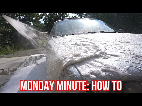 foam-cannon-with-only-soap-||-monday-minute-☝