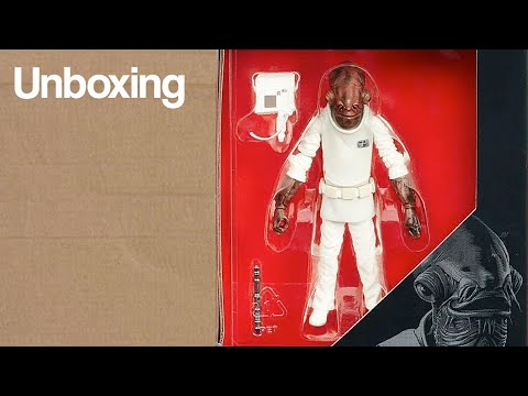 "Star Wars The Black Series 3.75"" Return of the Jedi Admiral Ackbar Figure Review"