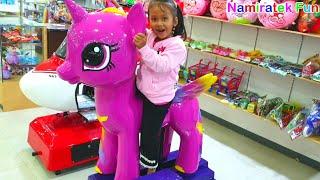 Baju mini mouse Naik odong odong kuda my little pony lucu sekali