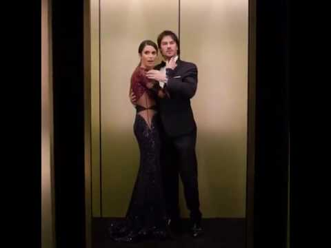 Instyle Magazine-Nikki Reed and Ian Somerhalder Golden Globes
