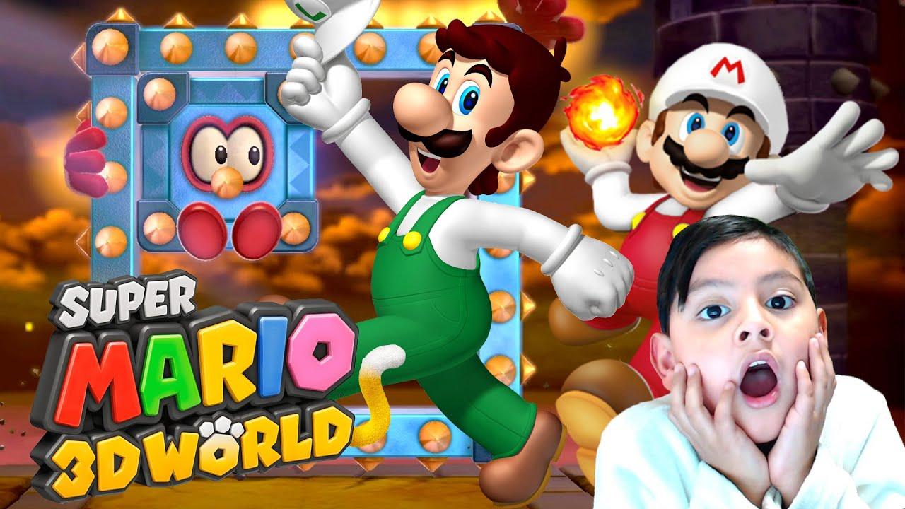 Mario y Luigi de Fuego | Super Mario 3D World Capitulo 10 | Juegos Karim Juega