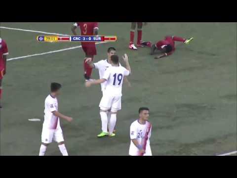 GOAL Costa Rica, Justin MONTERO No. 19 | @Fedefutbol_CR #Suriname #CU17PAN