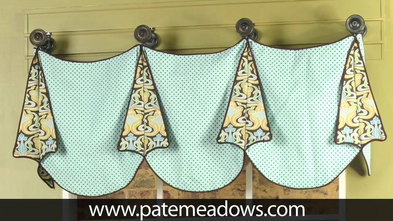 Louise valance sewing pattern youtube How to make a valance without sewing