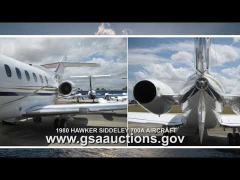GSA Auctions announces online sale: 1980 Hawker Siddeley 700A Aircraft