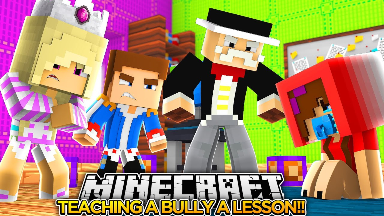 BULLY GIRL GETS PUNISHED w/ BABY LEAH!!- Minecraft - Little Donny Adventures.