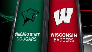 Chicago State at Wisconsin - Men's Basketball Highlights