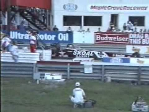 Top Fuel and Funny Cars at Maple Grove Raceway 1990