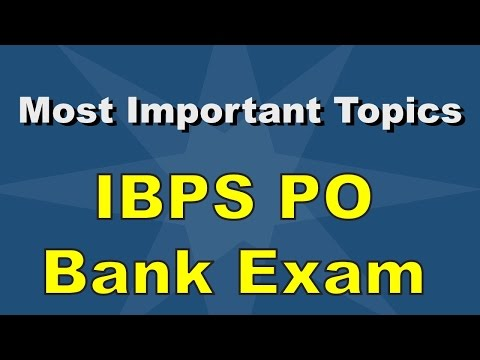 How to Crack Bank exams - IBPS & SBI [Most Important Topics]