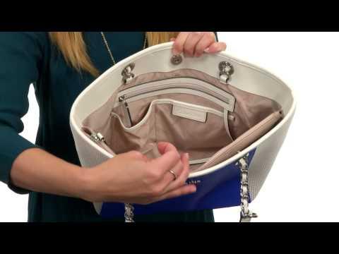 51d0fb72fec Calvin Klein Key Item Saffiano Leather Tote SKU:8047253 - YouTube