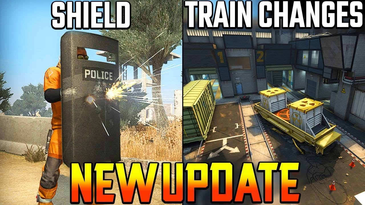 NEW CSGO UPDATE!! BALLISTIC SHIELD ADDED + TRAIN MAP CHANGES + Molotov  GLITCH Fixed! (CS GO Update)