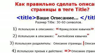 Новичок SEO-шник. Урок №2. Seo оптимизация страниц сайта. (Александр Новиков)