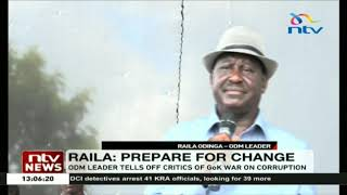 Raila says change is coming, nothing can stop an idea whose time has come