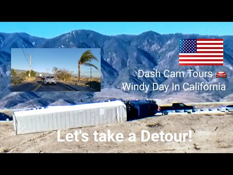 Dash Cam Tours 🚘 Flipped Trucks, Hazmat Fire and Google Maps Suggested Detour. Fontana, California