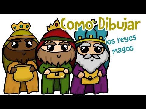 Como Dibujar Los Reyes Magos Youtube