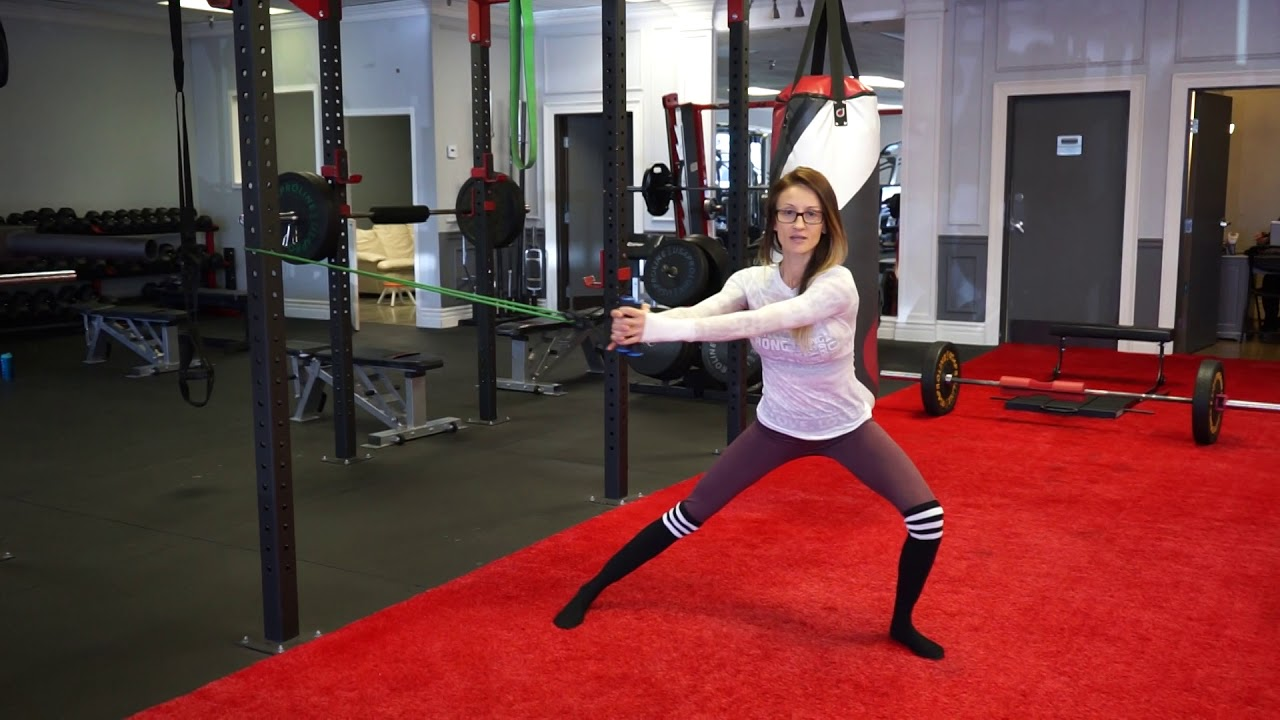 Resistance Band Exercise: Lateral Lunge foto