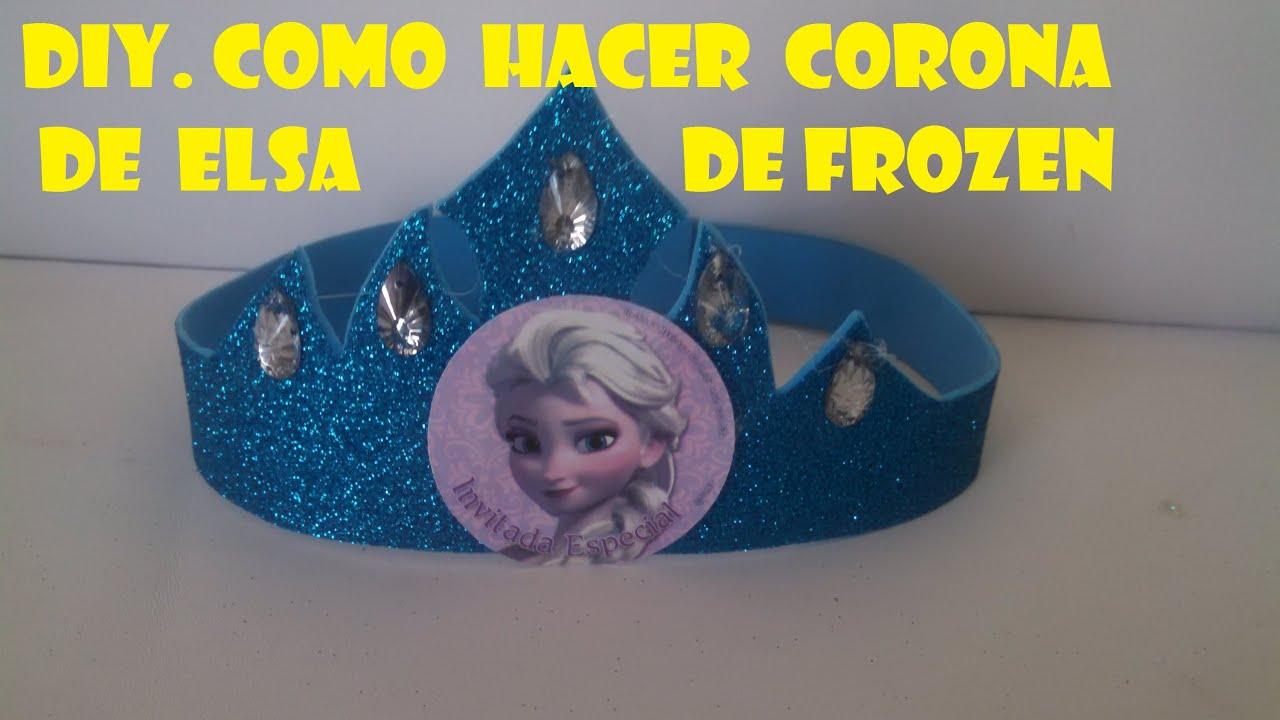 DIY,COMO HACER CORONA DE ELSA DE FROZEN/ how to make a princess ...