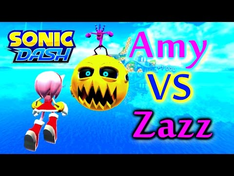 Sonic Dash - Amy VS Zazz [Widescreen / Landscape 1080p]