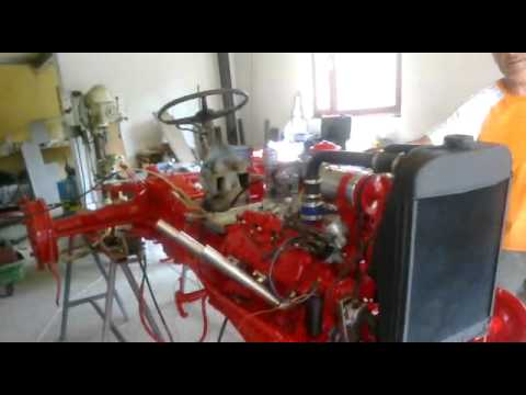 9n Ford Tractor >> ford 9n tractor V8 Flathead - YouTube