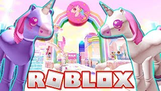 The Cutest City Filled with Unicorns in Roblox!