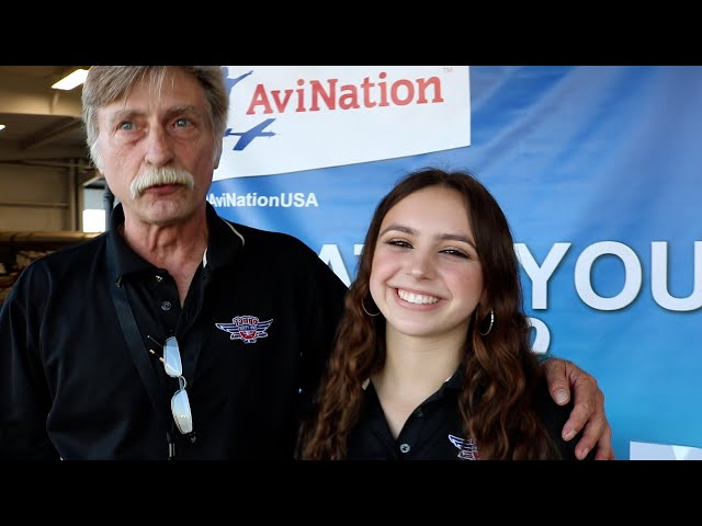 Kevin Lacey - Miss Ponytail - AviNation Youth in Aviation at Sun N Fun 2021