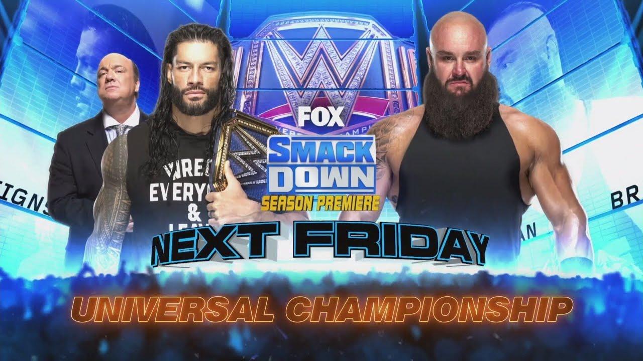 GIGANTEZCO CHOQUE ENTRE ROMAN REIGNS Y BRAUN STROWMAN POR EL WWE UNIVERSAL CHAMPIONSHIP !!! - YouTube