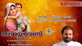 SAHANATHIN AMME Karaoke | Fr.Shaji Thumpechirayil | AMMAKKUVENDI | Marian 2nd