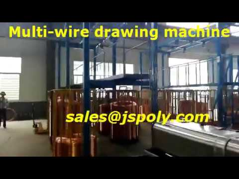 Multi wire drawing machine with annealing working for Russia cable factory