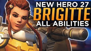 Overwatch: NEW Hero Brigitte Gameplay! - ALL Abilities Breakdown!
