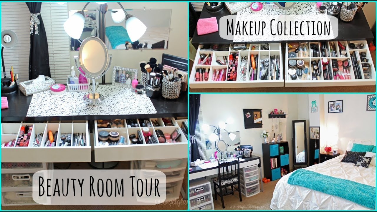 Beauty Room Tour Amp Makeup Collection Updated Youtube