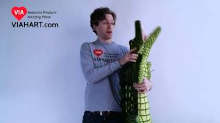 VIAHART 5 Foot Stuffed Alligator Animal Plush Kuwat the Saltwater Crocodile Video Review