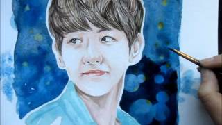 ' The Faint Star ' _ Baekhyun ( EXO ) - Speed Painting / Fan Art