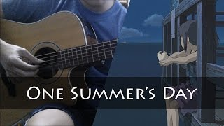 """(Joe Hisaishi) """"One Summer's Day"""" from Spirited Away - Fingerstyle Guitar Cover"""