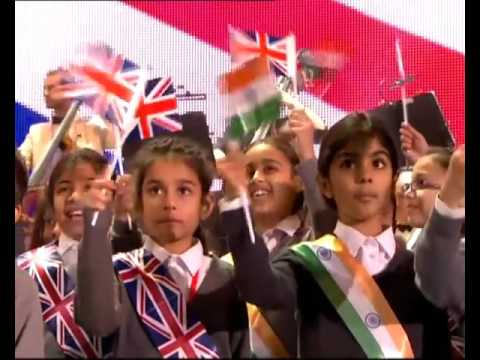 Patricia Rozario performs for PM Narendra Modi and PM David Cameron at Wembley Stadium, London