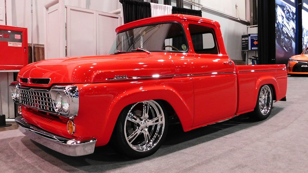 1960 Ford F1 Street Truck Legens Hot Rods The Sema Show 2016 Youtube 1955 F100 Rod