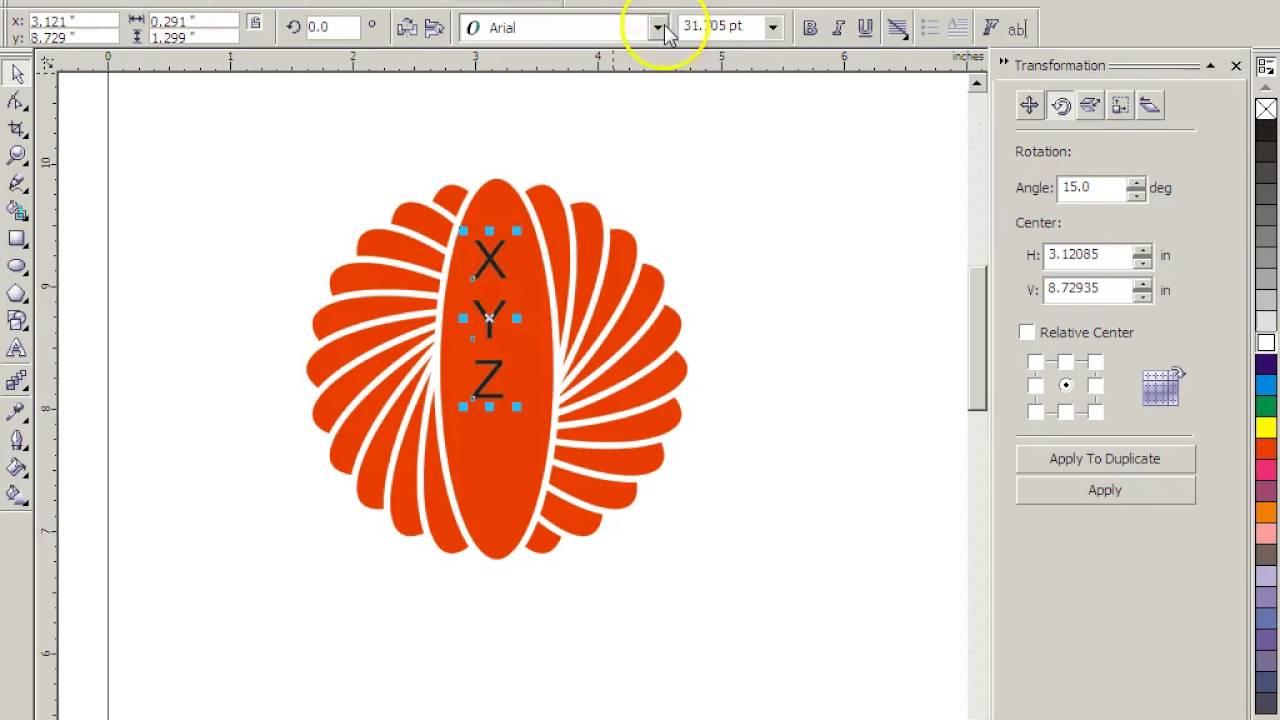 how to create logo in coreldraw x3