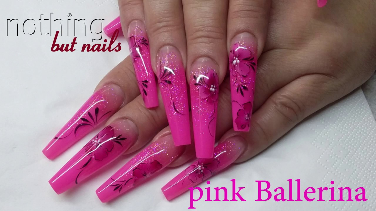pink nails ballerina naildesign nothing but nails - YouTube