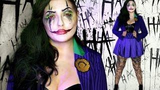 Classic Joker Halloween Costume Makeup Tutorial
