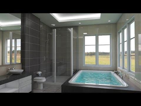Sketchup Interior design ( Make a bathroom )