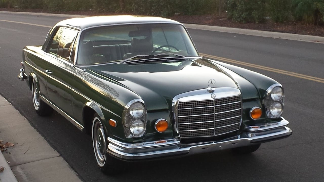 #1970 Mercedes Benz 280 SE Coupe #RETRO CAR - YouTube
