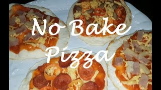 How to make No Bake Pizza | Pan fry Pizza | easy Pizza recipe