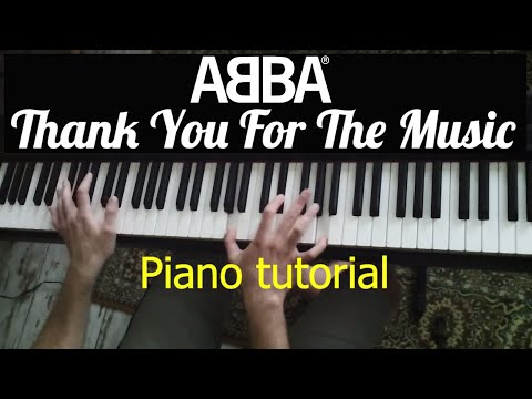 """Tutorial: ABBA - """"Thank You For The Music"""" / Evgeny Alexeev, piano"""