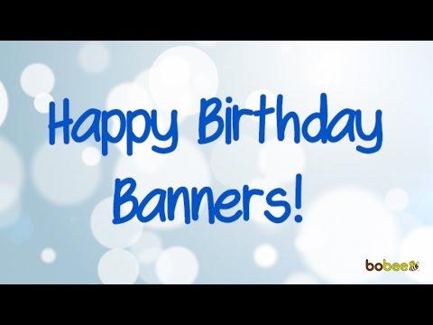 Bobee Birthday Banners